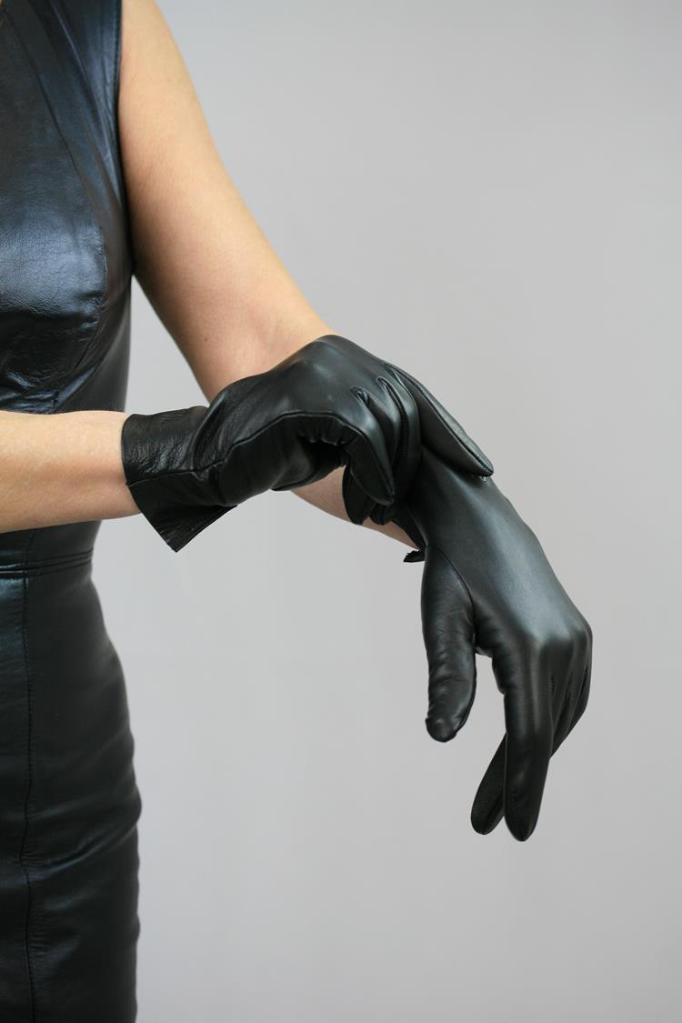 Klassische Damen Lederhandschuhe ungefüttert