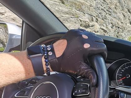 Sportliche Herren Autofahrerhandschuhe