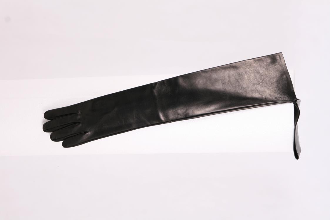 60 cm lange Herren Lederhandschuhe ungefüttert