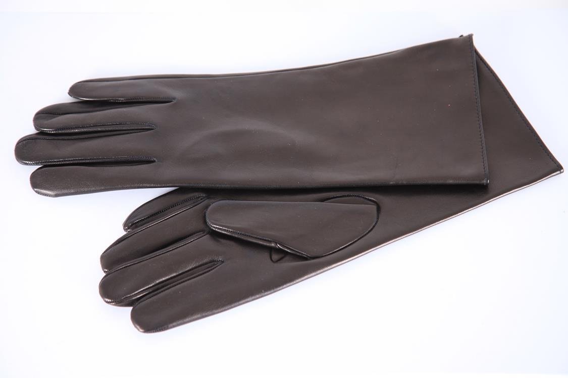 30 cm lange Herren Lederhandschuhe mit Seidenfutter