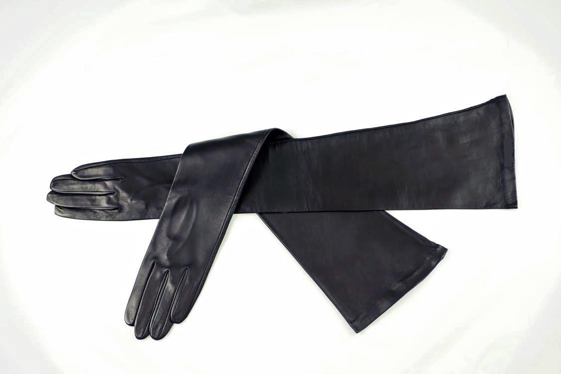 50 cm lange Herren Lederhandschuhe ungefüttert